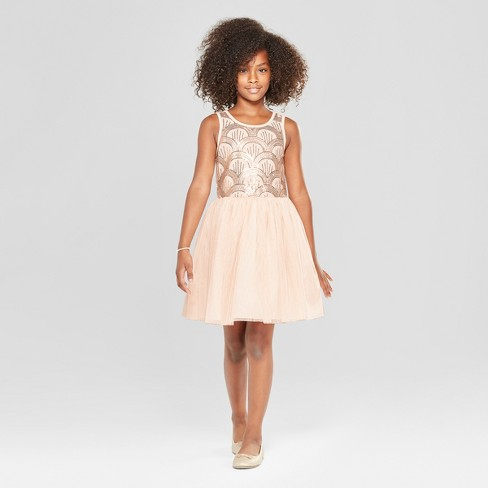 S Sequin Top And Tulle Skirt Dressy Dress Cat Jack Pink