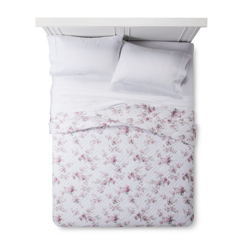 White Blooming Blossoms Quilt - Simply Shabby Chic® - image 1 of 3