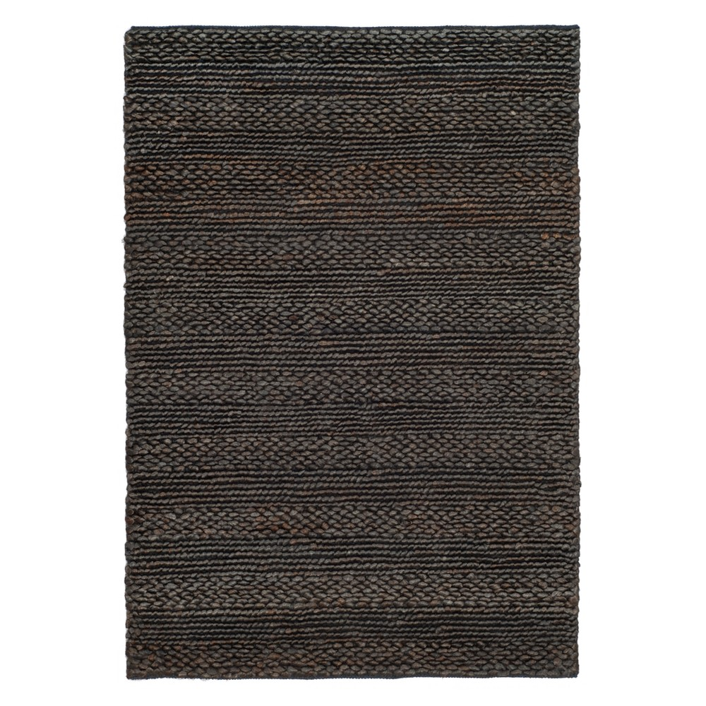 Charcoal (Grey) Solid Woven Accent Rug 4'X6' - Safavieh