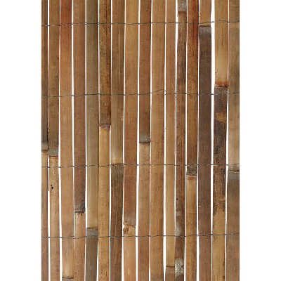 Gardman 13 Ft x 6.5 Ft Wood Outdoor Fencing For Fence, Shade Screen, or Garden Boundary Lines, Made from Natural Bamboo Panels and Galvanized Wire