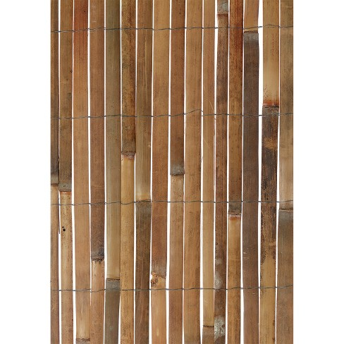 Gardman 13 Ft x 6.5 Ft Wood Outdoor Fencing For Fence, Shade Screen, or Garden Boundary Lines, Made from Natural Bamboo Panels and Galvanized Wire - image 1 of 4