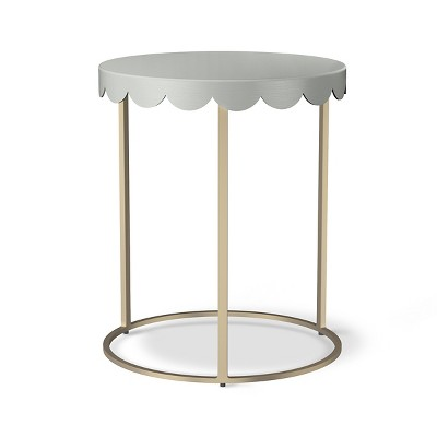 Scallop Kids Accent Table Gray Marble Pillowfort