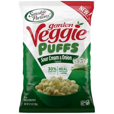 Sensible Portions Veggie Puffs Sour Cream & Onion - 3.75oz