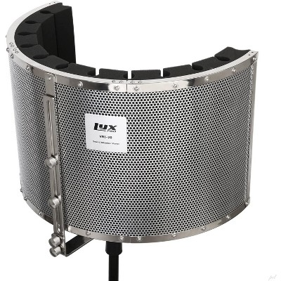LyxPro VRI-20 Sound Absorbing Acoustic Foam Isolation Portable Microphone Shield, Vocal Recording Panel, High Performance - Stand Mountable