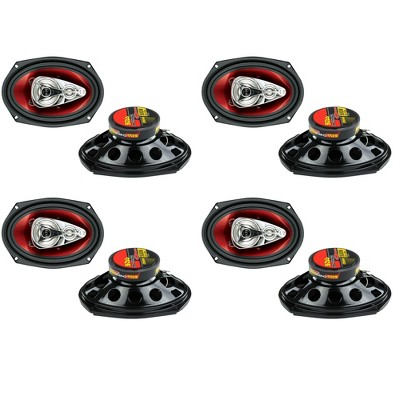 """BOSS Audio Chaos 6x9"""" 500W 4-Way Car Coaxial Audio Stereo Speakers (4 Pair)"""