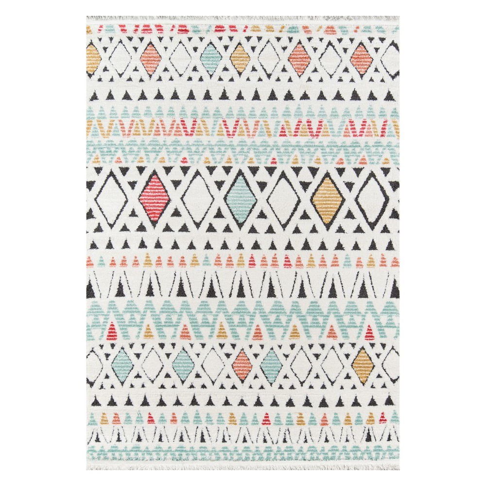 3'3X5' Geometric Loomed Accent Rug - Momeni, Multicolored