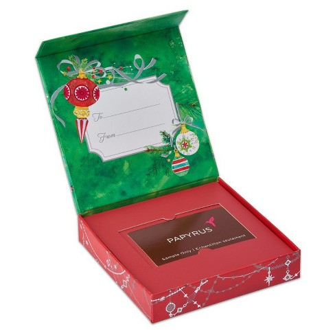 Papyrus Patterned Ornaments Gift Card Holder - image 1 of 3