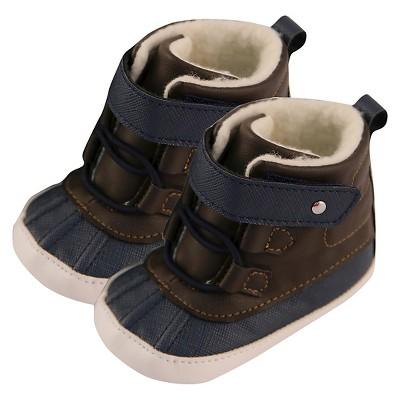 Baby Boys' Rising Star Sherpa Lining Boot Crib Shoes Blue 9-12M