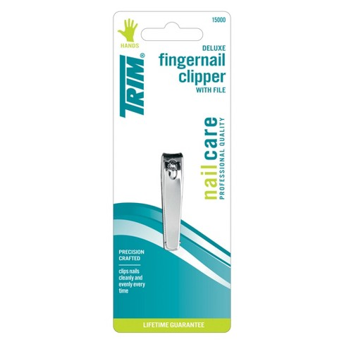 Trim Deluxe Quality Steel Fingernail Clipper with File - image 1 of 1