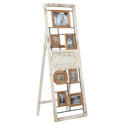 """21"""" x 63"""" Large Rectangular 7 Frame Photo Display with Easel Back and Hanging Hardware White - Olivia & May"""