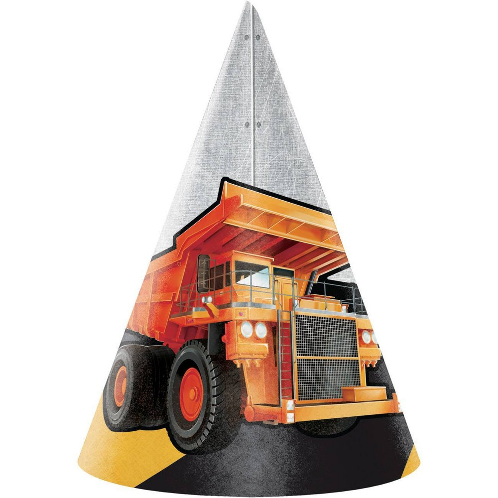 Image of 24ct Big Dig Construction Party Hats