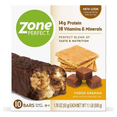 ZonePerfect Protein Bar Fudge Graham - 10 ct/17.6oz