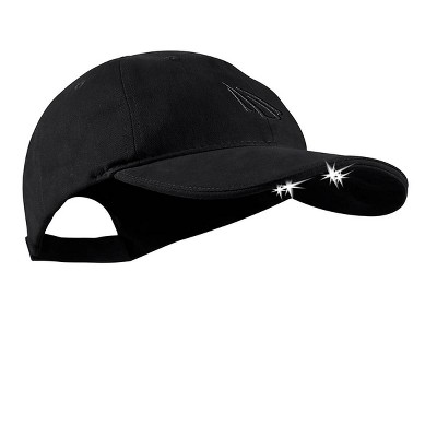 POWERCAP Adult 4 LED Unstructured Cotton Hat - Black