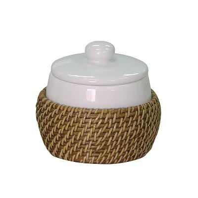 Hana Cotton Jar Bathroom Tumbler Honey - Elegant Home Fashions