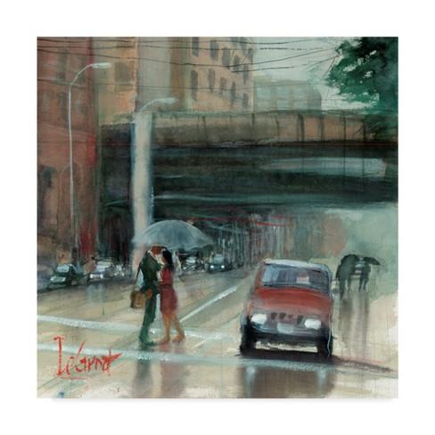 "Trademark Fine Art 35"" x 35"" Gregg Degroat 'Downtown Love' Canvas Art - image 1 of 3"