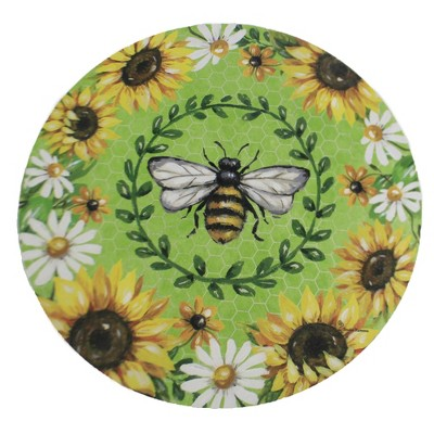 """Home & Garden 12.0"""" Bumblebee Sunflowers Stone Summer Spring Custom Decor  -  Stepping Stones And Pathways"""