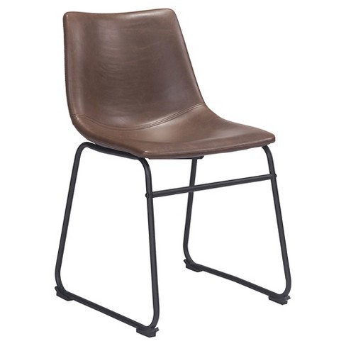 d28051d4764a Sculpted Upholstered And Metal Dining Chair - Vintage Espresso   Target