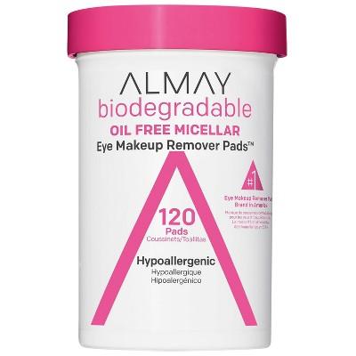Almay Biodegradable Oil Free Micellar Eye Makeup Remover Pads - 120ct