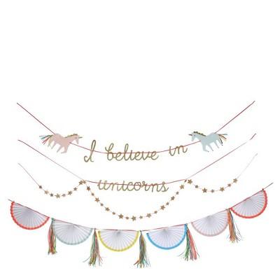 Meri Meri – Unicorn Banner – Party Decorations and Accessories, 14'
