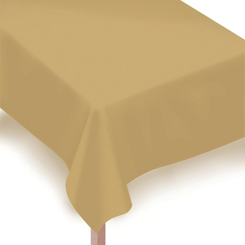 """54""""x108"""" 2ct Disposable Tablecover Gold - Spritz™ - image 1 of 1"""