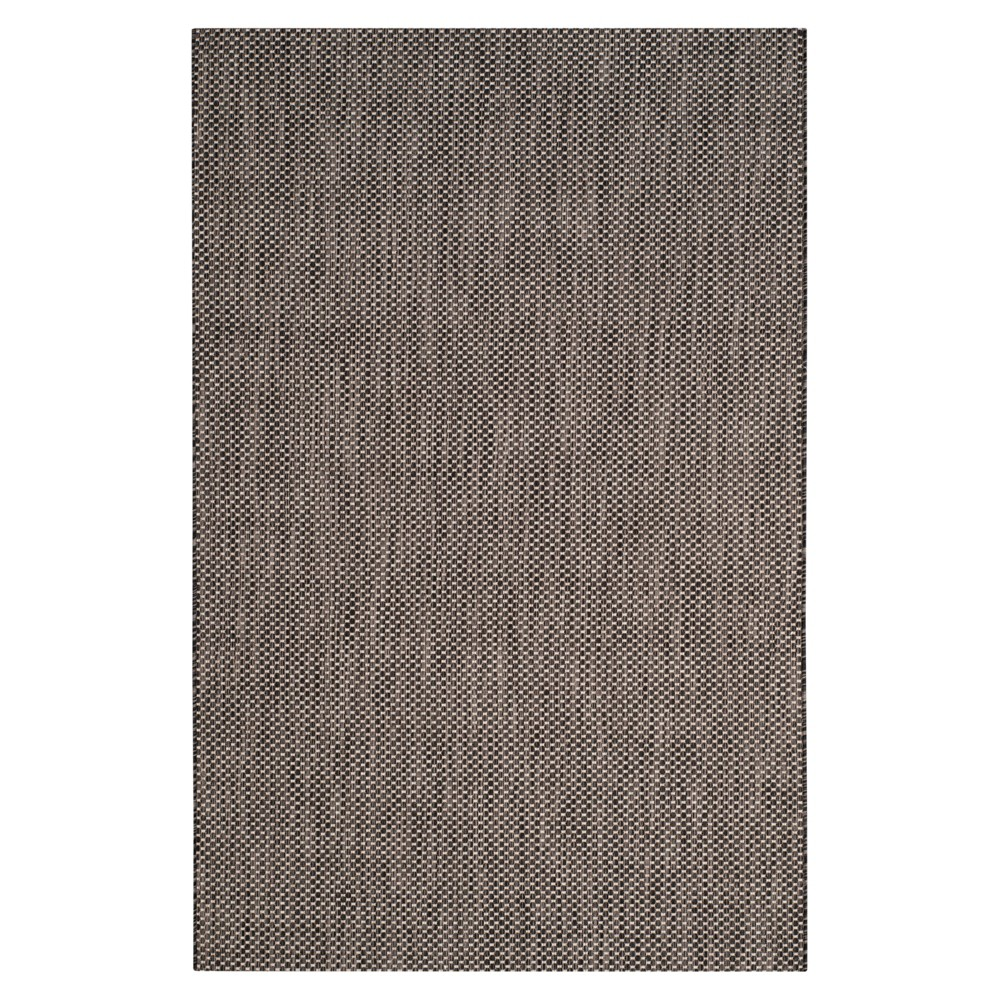 Cherwell 6'7 X 9'6 Outdoor Patio Rug - Black / Beige - Safavieh