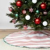 "48"" Woven Striped Christmas Tree Skirt Red - Wondershop™ - image 2 of 4"