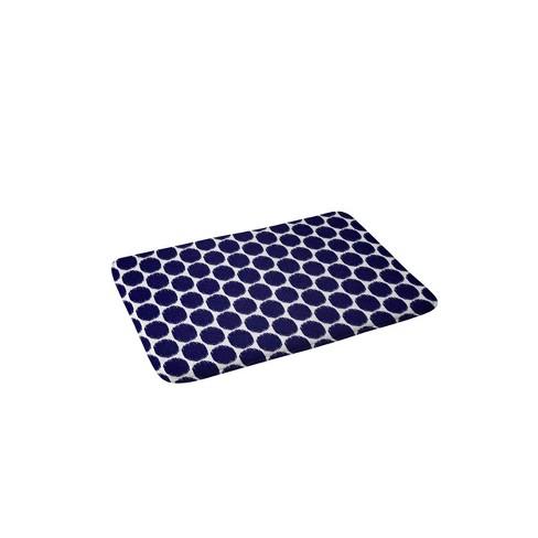 Natalie Baca Ikat Ovals Memory Foam Bath Mat Blue - Deny Designs - image 1 of 3
