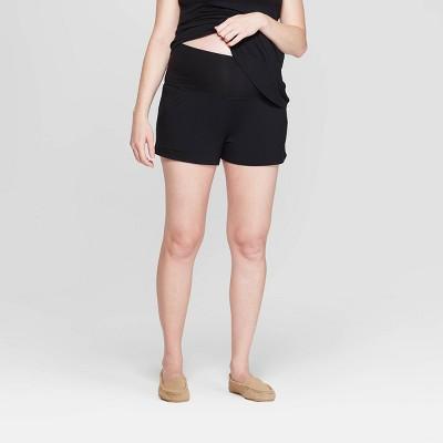 Women's Beautifully Soft Postpartum Pajama Shorts - Stars Above™ Black L