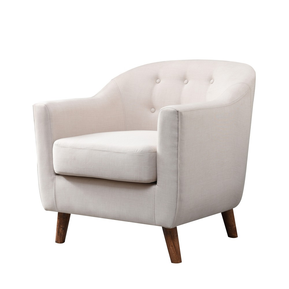 Belka Tufted Upholstered Accent Chair Almond Cream - miBasics