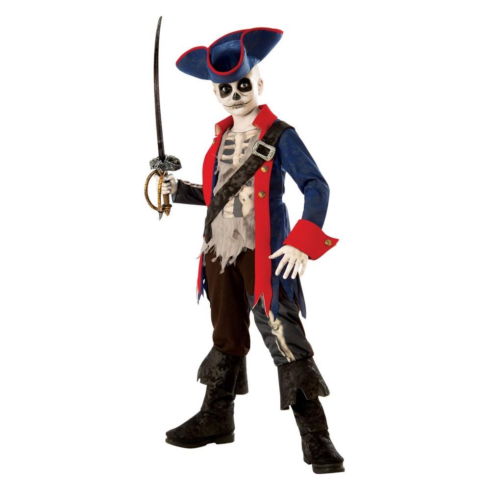 Kids' Captain Bones Halloween Costume M, Boy's, Multicolored