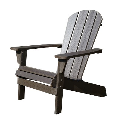 Faux Wood Adirondack Chair - Espresso - Merry Products