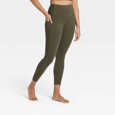 """Women's Contour Flex High-Rise Ribbed 7/8 Leggings 24.5"""" - All in Motion™"""