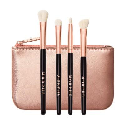 Morphe Rosé Play Mini Eye Brush Collection + Bag - 4pc - Ulta Beauty