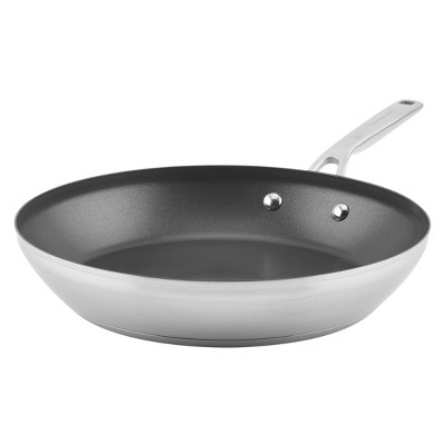 "KitchenAid 3-Ply Base Stainless Steel 12"" Nonstick Frying Pan"