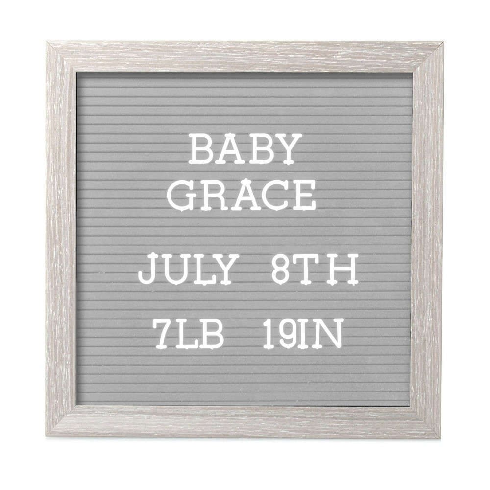 """Image of """"Pearhead 10"""""""" x 10"""""""" Letterboard Set - Light Gray"""""""