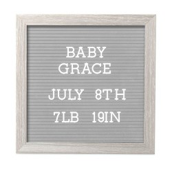 "Pearhead 10"" x 10"" Letterboard Set - Light Gray"