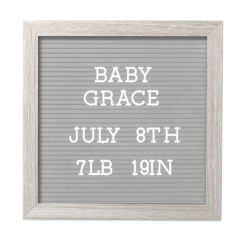 """Pearhead 10"""" x 10"""" Letterboard Set - Light Gray - image 1 of 4"""