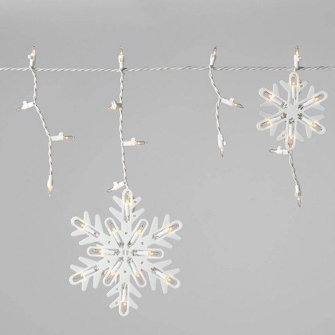 Christmas Incan Snowflake Icicle Novelty 150 Lights Clear with White Wire - Wondershop™ - image 1 of 4