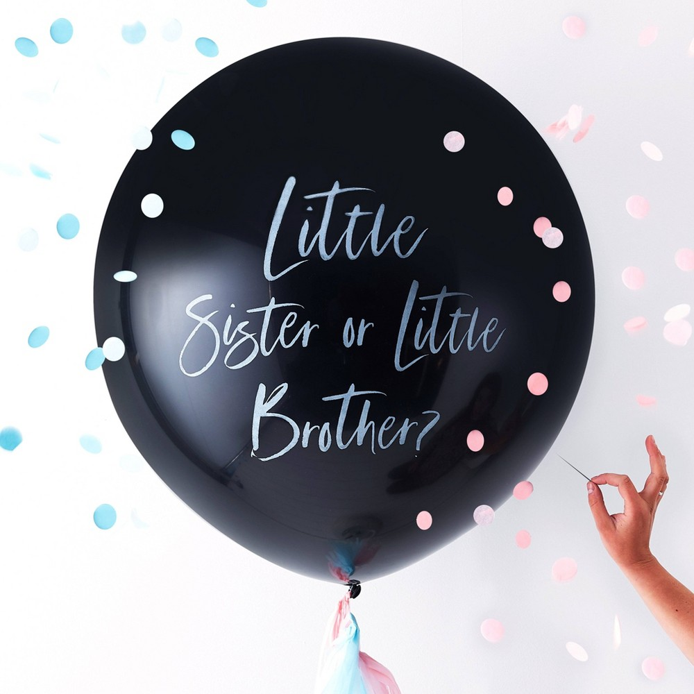 Gender Reveal Balloon Accessories - Ginger Ray, Multi-Colored