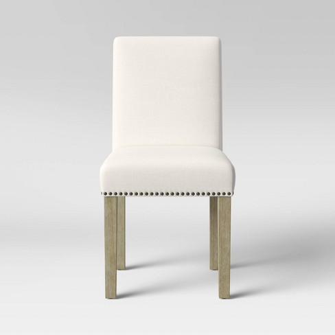 Chestertown Dining Chair with Nailheads Cream - Threshold™ - image 1 of 4
