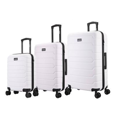 InUSA Trend Lightweight Hardside Spinner 3pc Luggage Set - White