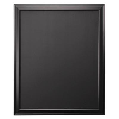 """28"""" x 34"""" Bosc Framed Magnetic Chalkboard Black - DesignOvation"""