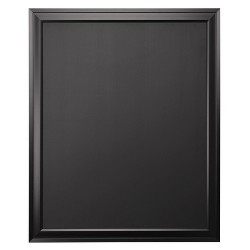 "28"" x 34"" Bosc Framed Magnetic Chalkboard Black - DesignOvation"