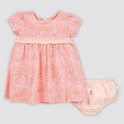 Burt's Bees Baby® Baby Girls' Organic Cotton Secret Garden Dress and Diaper Cover Set - Pink 3-6M