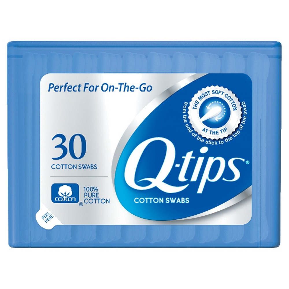 Image of Q-tips Blue Purse Pack Cotton Swabs - 30ct