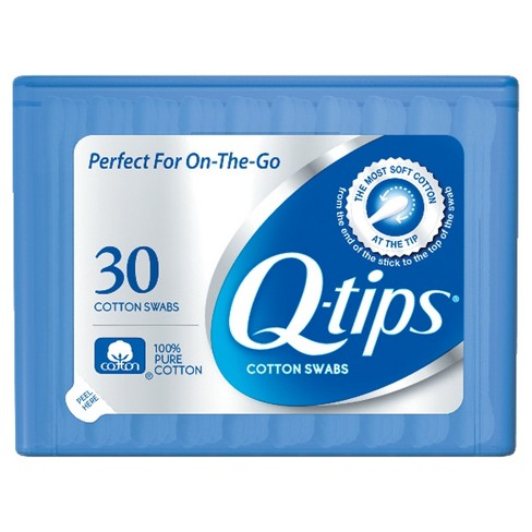 Q-tips Blue Purse Pack Cotton Swabs - 30ct - image 1 of 4