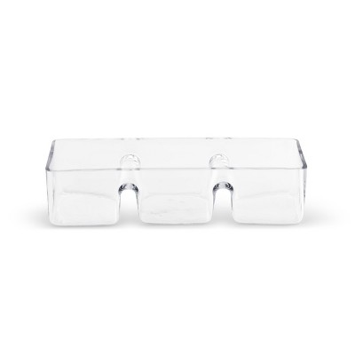 DEMDACO Glass 3-Section  Divided Serving Dish Clear