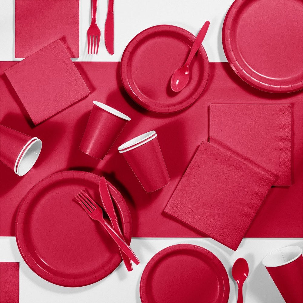 245pk Party Supplies Kit Classic Red
