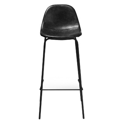Set of 2 Maxine Modern Upholstered Faux Leather Barstool - Aeon