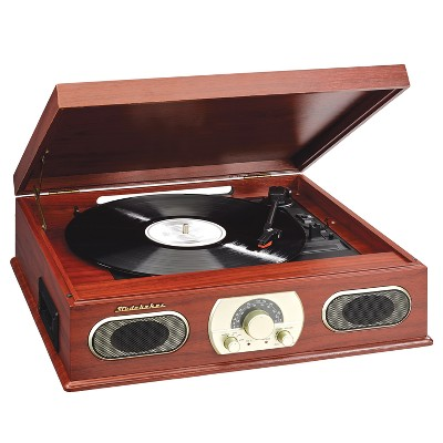 Studebaker Stereo Turntable With AM/FM Radio And Cassette Player   Brown  (SB6052CA)